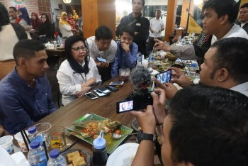 Meiliana Bukber Awak Media Kaltim