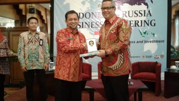 Wagub Buka Business Gathering Indonesia-Rusia