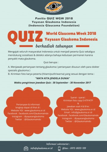 QUIZ World Glaucoma Week 2018 Yayasan Glaukoma Indonesia